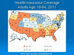 Figure 5. Health Insurance Coverage, 2011, by State